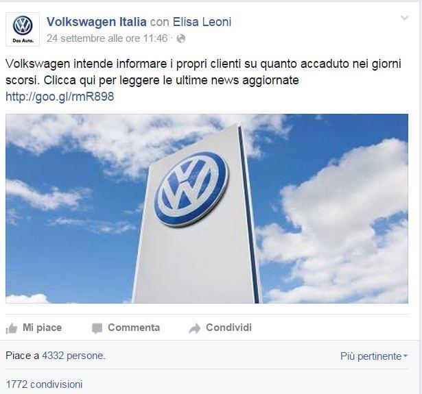 """VOLKSWAGEN GATE – UN CASO DI  """"CRISIS COMMUNICATION MANAGEMENT"""""""